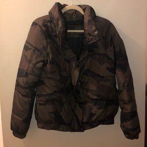 """whatever"" zara woman's camp puffer jacket!"